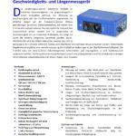 Sensorik Austria - Geschwindigkeitssensor VLM500 - Datenblatt